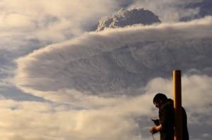 La nube di cenere