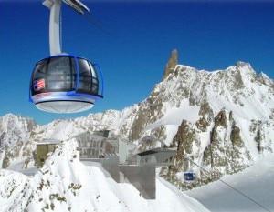 Le nuove funivie del monte Bianco (Photo Doppelmayr Garaventa ITALY)