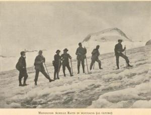 Mons. Achille Ratti in montagna (Photo courtesy ilcuoreinvetta.wordpress.com)