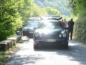 Incidente in Val Chisone (Photo courtesy Lastampa.it)