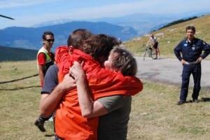 Maielletta - escursionista ritrovata (Photo courtesy www.ansa.it)