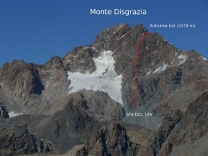 149°, la nuova via sul Monte Disgrazia (Photo Michele Comi)