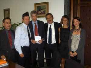 Professor Surendra Kafle - Francesco Profumo -Enrico Brugnoli - Paolo Bonasoni - Stefania Mondini -Anna Bocci