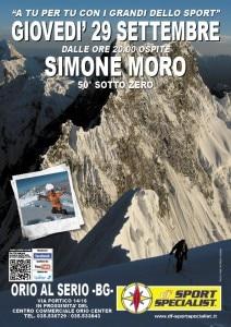 Simone Moro ad Orio al Serio