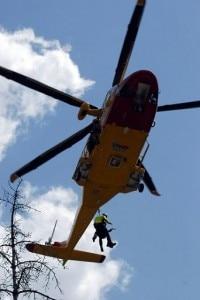 L'elicottero del Soccorso alpino