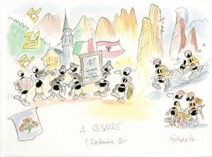 Le formiche di Fabio Vettori omaggiano Cesare Maestri per la 40esima Targa d'Argento del Premio internazionale Solidarietà alpina