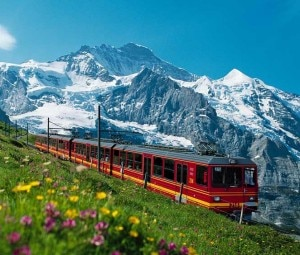 La ferrovia della Jungfrau (Photo courtesy of www.zurich.ibm.com)
