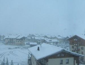 Panorama di Livigno questa mattina (Photocourtesy of webcam APTLivigno)