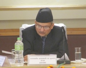 Il Primo Ministro nepalese Baburam Bhattarai al Nast