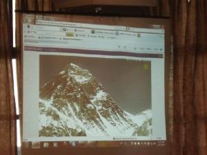 La webcam dell'Everest proiettata al Nast