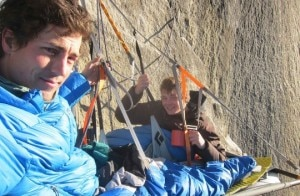 Sonnie and Will Trotter e Stanhope sul portaledge (Photo Sonnie Trotter - Alpinist.com)