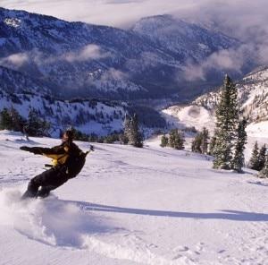 Snowboarder sulla catena Wasatch, nello Utah (© Copyright Howie Garber)