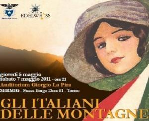 """Locandina di """"Gli italiani delle montagne"""" (Photo courtesy of www.coro-edelweiss.it)"""