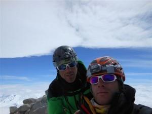 Fabio Salini e Daniele FIorelli in cima al Fitz Roy (Photo Fabio Salini)