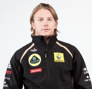 Kimi Raikkonen, pilota di Formula 1 per la scuderia Lotus-Renault (Photo courtesy of  www.lotusrenaultgp.com)
