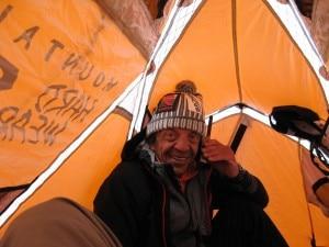 Mario Merelli in una foto al K2
