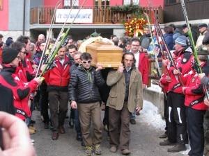 Lizzola, funerali di Mario Merelli