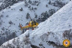 Cnsas_Anversa degli abruzzi_arrivo elicottero (Photo Cnsas)