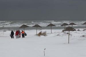 Snowboarder sulle spiagge di Ravenna (Photo www.ravennaedintorni.it)