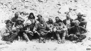 La spedizione all'Everest del 1922 (Photo BBC.co.uk)