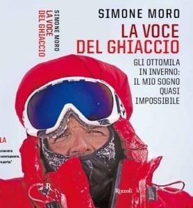 La voce del Ghiaccio - copertina del nuovo libro di Simone Moro