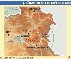 Sisma nelle Alpi del sud (Photo www.ledauphine.com)