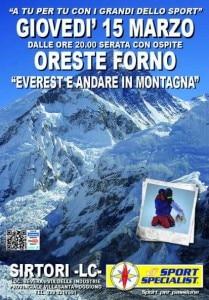 Sportspecialist - locandina Oreste Forno