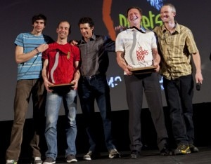 Luka Strazar e Nejc Marcic insieme a Steve Swenson, Mark Richey e Freddy Wilkinson (Photo Gughi Fassino)