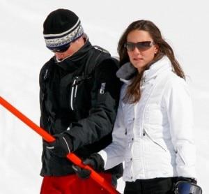 William e Kate in Svizzera nel 2008 (Photo Rex)