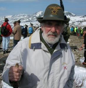 Mario Rigoni Stern sull'Ortigara nel 2006 in occasione dell'adunata degli Alpini (Photo courtesy of www.aidovicenza.it)