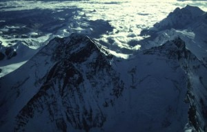 Everest e Lhotse, visuale aerea