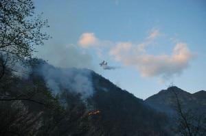 Incendio in Val Tramontina (Photo ilgiornaledellaprotezionecivile.it)