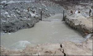 Il luogo della valanga dove ora sorge un lago (Photo courtesy geo.tv)