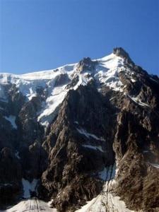 La parete nord dell'Aguille Du Midi (Photo www.ledauphine.com)