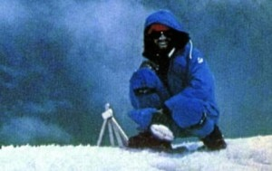 Messner in vetta all'Everest (Photo ilgiornaledivicenza.it)