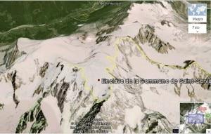 Monte Bianco su Google earth