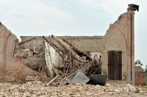 Terremoto: una casa di San Felice sul Panaro (Photo Il giornale della Protezione Civile)