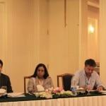Da sinistra, Abid Ali direttore del CKNP, Najma Najam, Vice Chancellor della KIU, e Raffaele Del Cima direttore di SEED