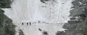 Couloir du Goûter uno dei punti più pericolosi della via normale del Monte Bianco (Photo Jerome Luccioni courtesy of www.ski-libre.com)