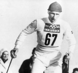 Sixten Jernberg alle Olimpiadi Invernali di Innsbruck del 1964 (Photo courtesy of www.vg.no/NTB Scanpix)