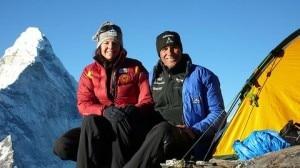 Gerlinde Kaltenbrunner e Ralf Dujmovits (Photo courtesy up-climbing.com)