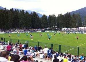 La squadra dell'Inter durante il ritiro a Pinzolo (Photo courtesy of www.news.giudicarie.com)