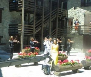 Una scena del film girata a La Thuile (Photo courtesy of www.aostasera.it)