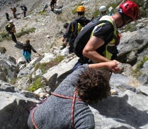 Il Soccorso Alpino aiuta gli scout in difficoltà sul Peralba (Photo courtesy of Cnsas Veneto)