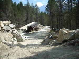 Champdepraz la pista multifunzione in costruzione (Photo courtesy panoramio.com)