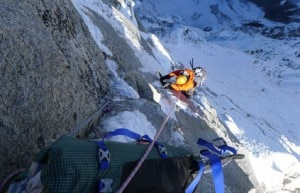 Mick Fowler su Prow of Shiva (Photo www.berghaus.com)