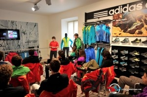Presentazione collezione Adidas a Cles (Photo Davide Ferrari courtesy sportdimontagna.com)