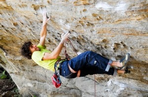 Jacopo Larcher su Southern Smoke Direct 9a(Photo Aurelien Tixier)