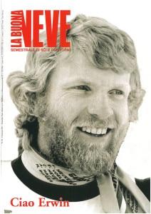 Uno degli ultimi numeri della rivista con l'addio allo sciatore Erwin Stricker