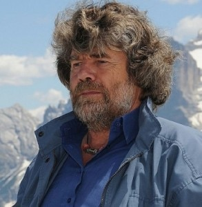 Reinhold Messner (Photo courtesy trentinocorrierealpi.gelocal.it)